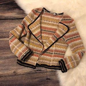 Zara Trafaluc Outerwear Bohemian Print Blazer